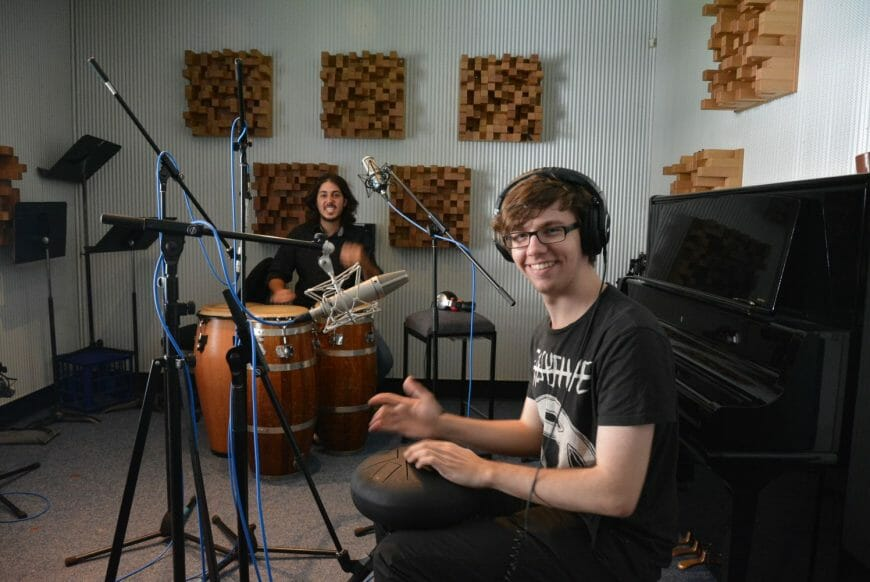 Tsoof and Lachlan in the Studio