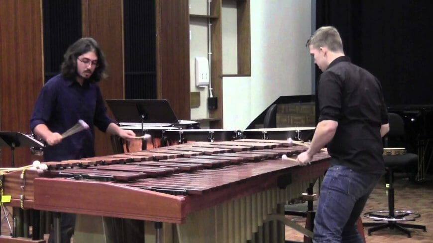 Tsoof and Callum perform Nagoya Marimbas