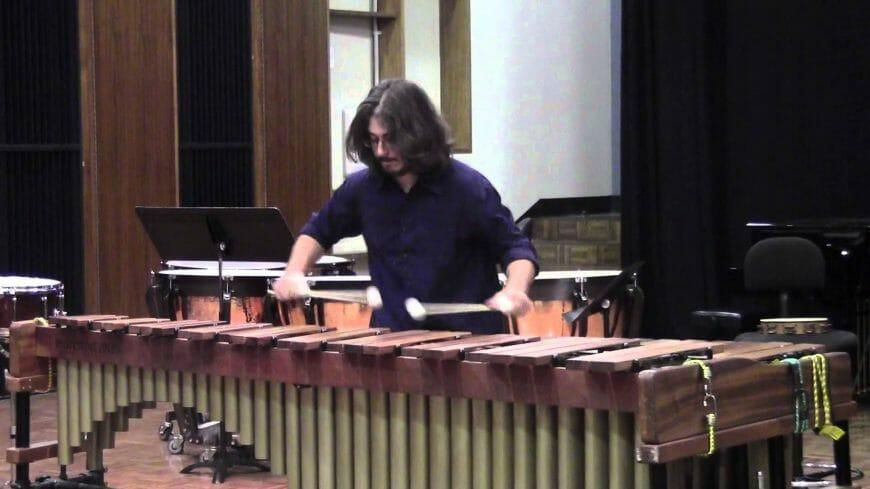 Tsoof playing marimba