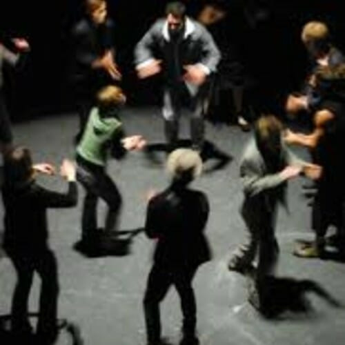 Group body percussion performance