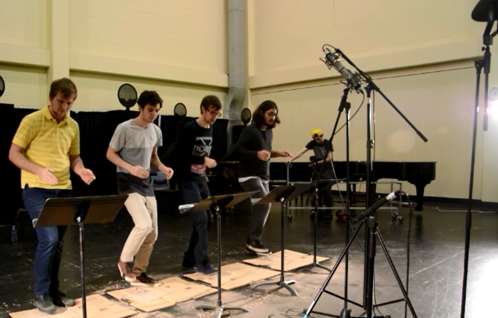 Body percussion recording set