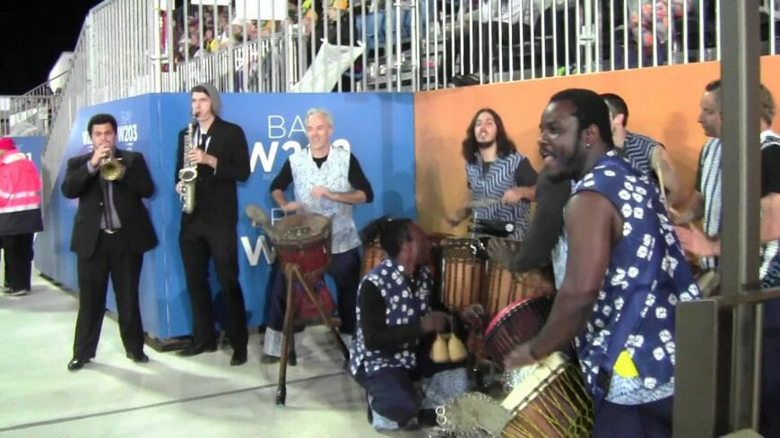 Spankinhide and Friends performing at Pan Pacs 2014