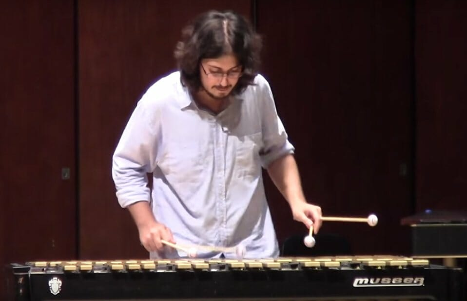 Tsoof playing vibraphone