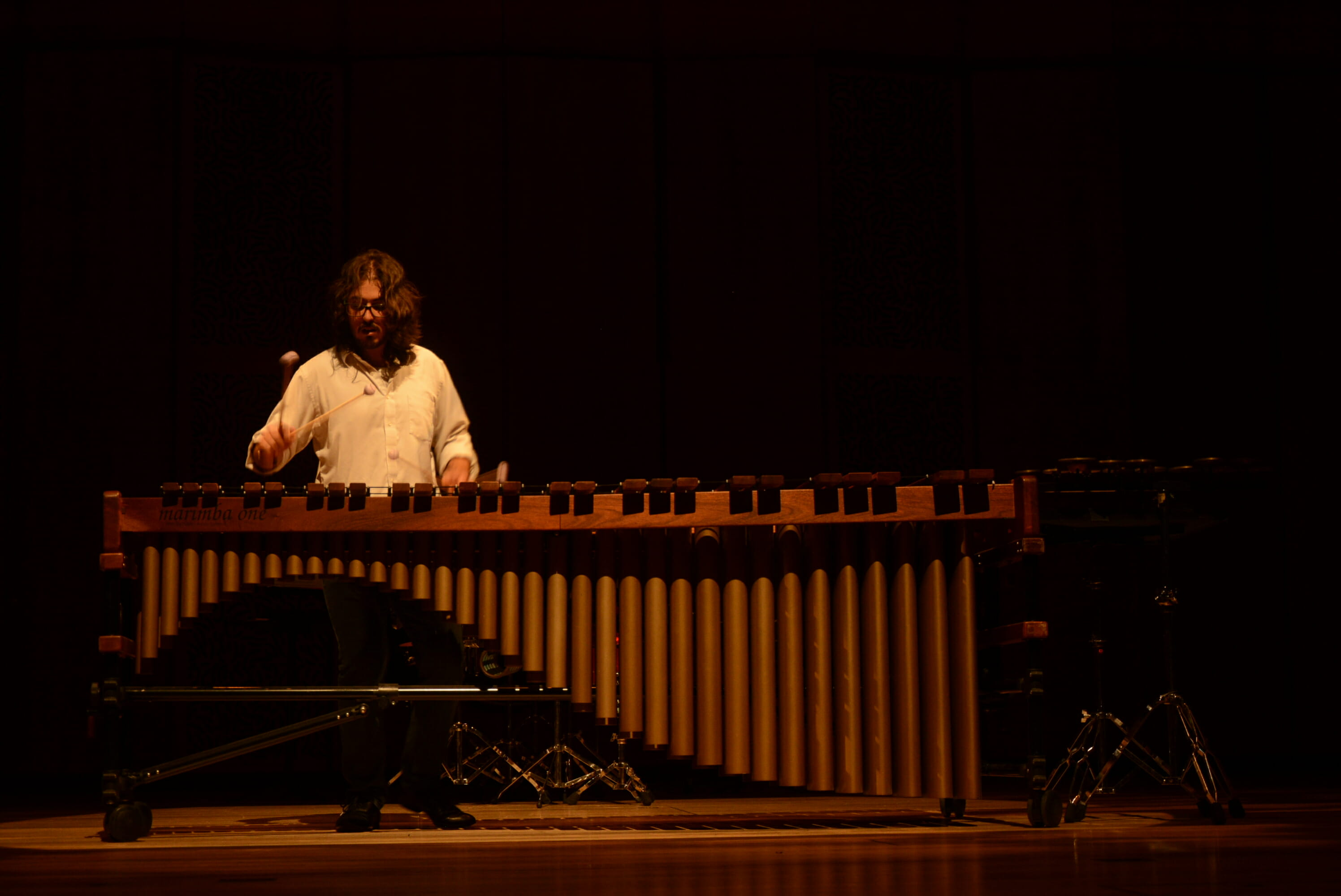 Tsoof playing marimba