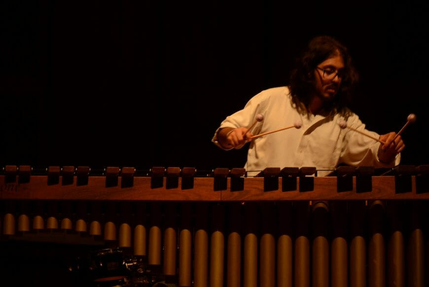 Tsoof playing More Marimba Dances on Marimba